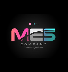 Mes m e s three letter logo icon design vector