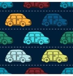 Mini retro car seamless pattern vector