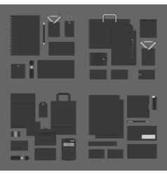 Mock up for Logo presentation corporate identity vector image