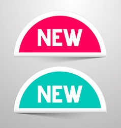 New Paper Labels Set vector image