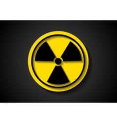 Nuclear radiation symbol vector