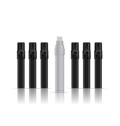 open white marker next to closed black markers vector image