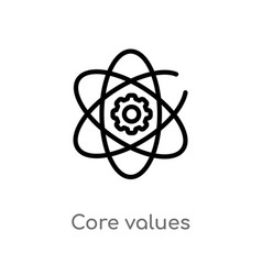 Outline core values icon isolated black simple vector
