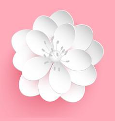 Paper cut sakura flower floral vector