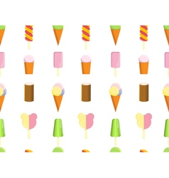 Pattern with ice cream vector