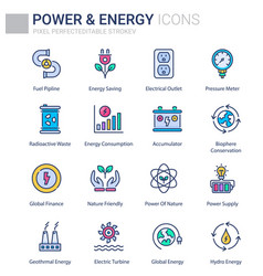 power and energy vector image