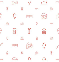Product icons pattern seamless white background vector