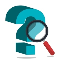 Question mark with magnifyin glass vector