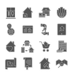 real estate icons eps 10 vector image
