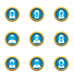 Resident icons set flat style vector