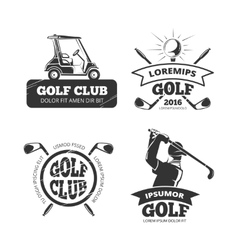 retro golf labels emblems badges vector image