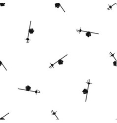 saber pattern seamless black vector image