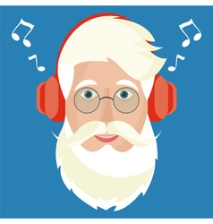 Santa Claus face icon vector