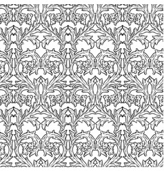 Seamless background drawn floral vintage vector