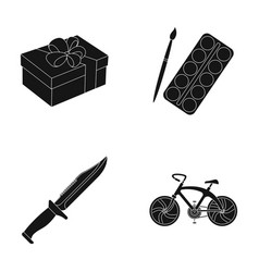 Service offenses and other web icon in black vector