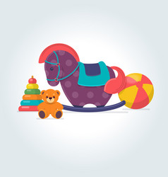 set different kids toys vector image