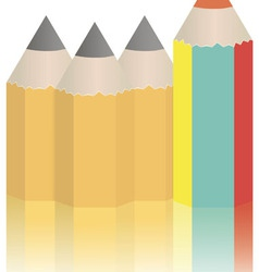 Set of original colored pencils on a white vector image