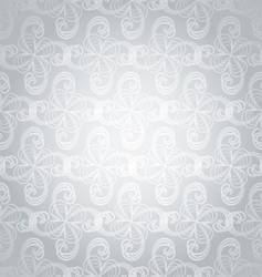 silver swirl overlap vector image
