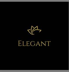 simple minimalist elegant luxury lotus flower line vector image
