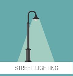 Street lighting banner vector