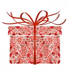 Stylized gift box vector image