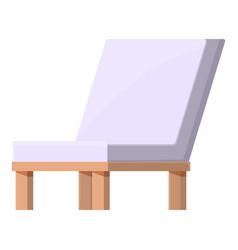 Textile wood chair icon cartoon soft vector