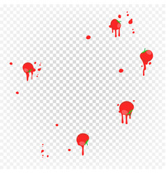 throw tomatoes having tomatoes from crowd vector image