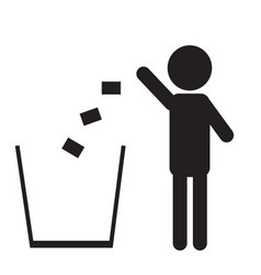 trash icon isolated on a white background vector image
