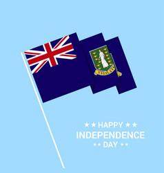 Virgin islands uk independence day typographic vector