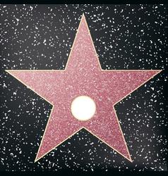 Walk fame star star hollywood vector