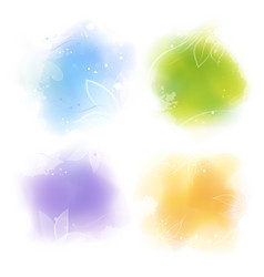 watercolor style colorful backgrounds vector image