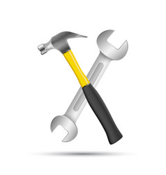 Wrench screwdriver hammer repair icon business vector