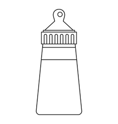 Baby bottle icon outline style vector image
