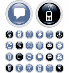 business technology icons vector image vector image