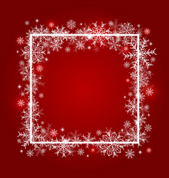 christmas background design of snowflake vector image vector image