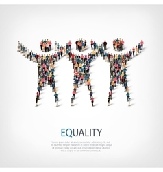equality people sign 3d vector image
