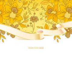 ribbon floral vector image