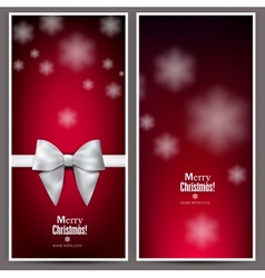 Set of Elegant Red Christmas banners with vector image vector image