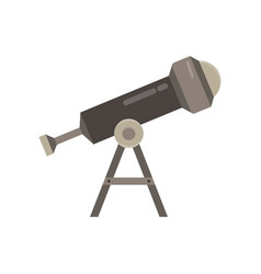 telescope icon isolated astronomy discovery flat vector image vector image