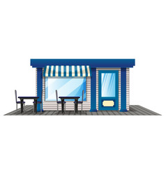 cafe with outdoor dining tables vector image vector image