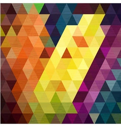 Line move on colorful triangle background fabric t vector image