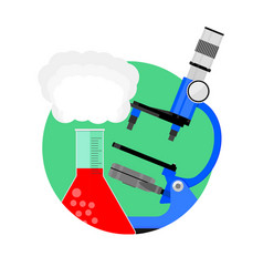 scientific experiment icon vector image