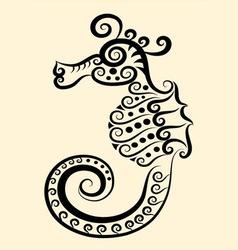 Seahorse decorative vector image vector image