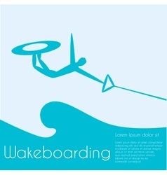 Wakeboard vector image
