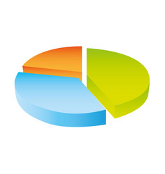 colorful silhouette circular statistics charts vector image