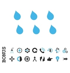 Drops Flat Icon With Bonus vector image
