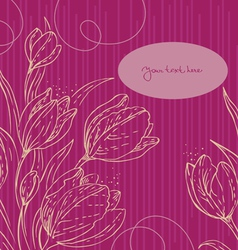 Floral background with tulips vector image vector image