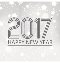 happy new year 2017 on gray silver bokeh vector image vector image