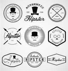 Hipster badges labels vector
