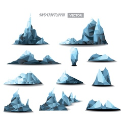mountain polygonal set background vector image